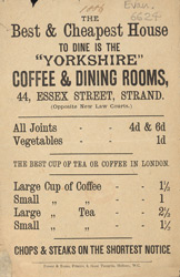 Advert for the Yorkshire Coffee & Dining Rooms 6624